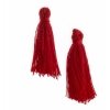 Cotton Tassels (20pcs) 1In Red